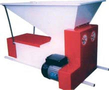 Ερασιτεχνικός σπαστήρας-διαχωριστήρας σταφυλιών ηλεκτροκίνητος  (θλιπτήρας-εκραγιστήρας-απορραγιστήρας για αποβοστρύχωση και έκθλιψη) τύπου Eno 3, του ιταλικού εργοστασίου Enoitalia