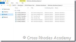 Brinkman Adventures zipped files extracted