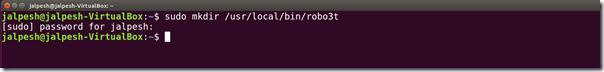 mkdir-robo3t-robmongo-ubuntu