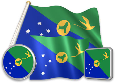 Christmas-Island flag animated gif collection