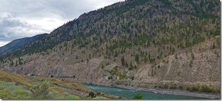 Train tunnel along Thompson River, Trans-Canada Highway  BC