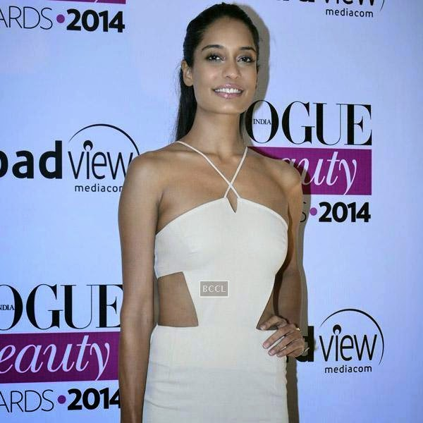 Actress Lisa Haydon attends Vogue Beauty Awards 2014, held at Hotel Taj Lands End in Mumbai, on July 22, 2014.(Pic: Viral Bhayani)
