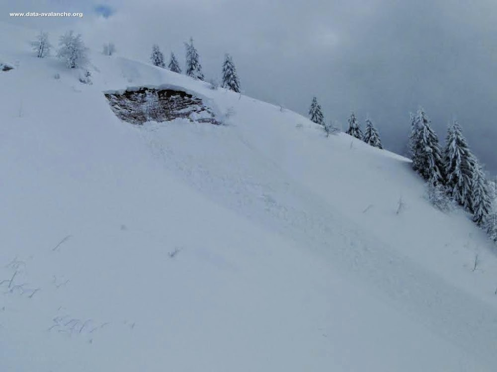 Avalanche Chablais, secteur Pointe des Jottis, Mégevette - Photo 1