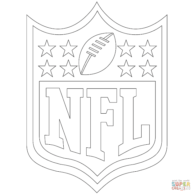 Click The Nfl Logo Coloring Pages
