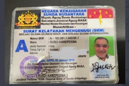 """Viral Soal SIM dari Negara Kekaisaran Sunda Nusantara, Ternyata """"Kerabat"""" Sunda Empire?"""