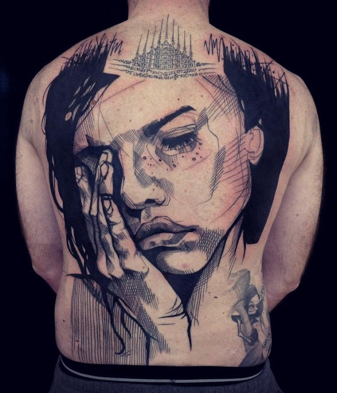 este_assombroso_volta_completa_esboço_estilo_de_tatuagem