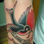 arm swallow - tattoo designs