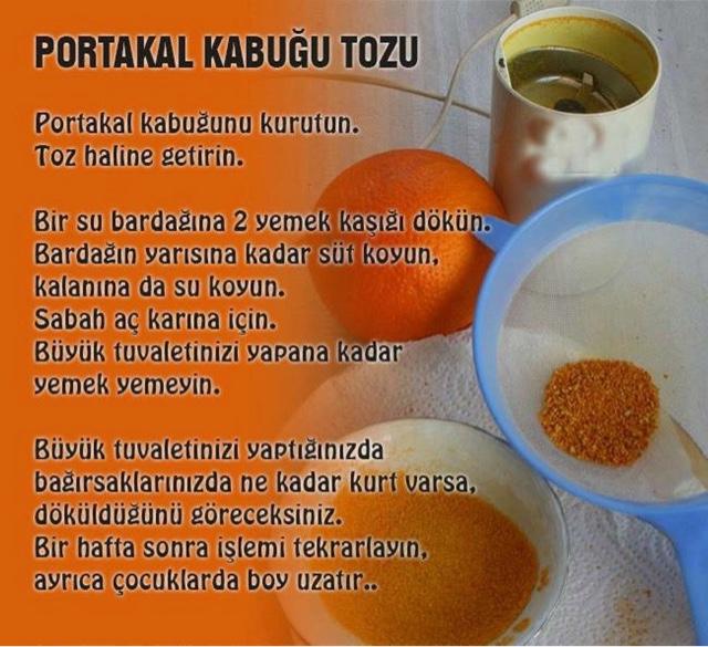 Portakal Kabuğu Tozu Nasıl Yapılır