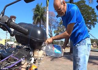 ये है दुनिया की पहली पानी से चलने वाली बाइक एक लीटर में 500 किलोमीटर का माइलेज -This is the world's first water-powered bike mileage of 500 kilometers a liter -