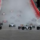 Start of the 2015 US F1 GP