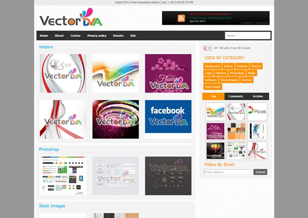 Vector Responsive free blogger template download