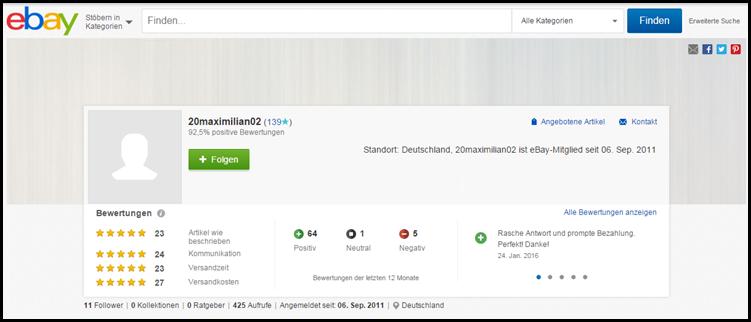 Hostienschändung e-bay 3 Verkäuferinfo