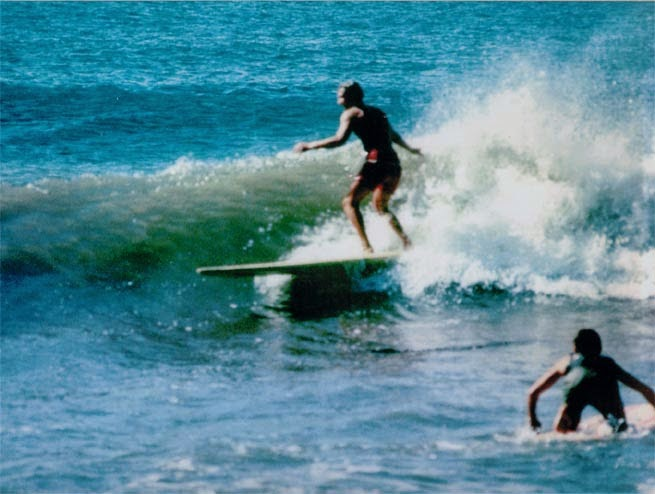 Surfing at Rincon, spring 1964