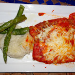 parmasan cheese chicken at Sylvanos in Miami, Florida, United States