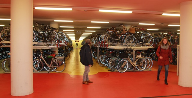 """Bicycles EVERYWHERE; No room at the """"in"""" - Rotterdam station"""