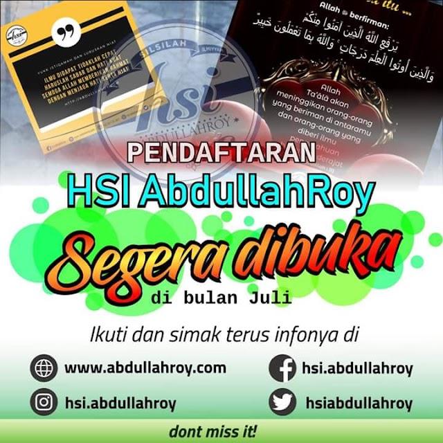 Belajar Islam dari dasar bersama  Kajian online HSI Abdullah Roy