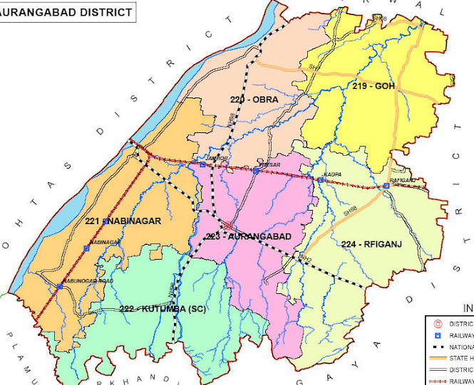 aurangabad district bihar assembly elections 2015 constituency map image