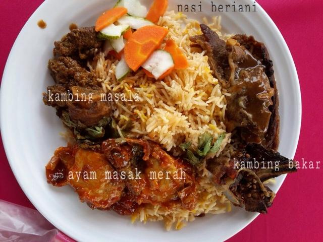 Nasi Beriani dan Kambing Bakar dari Cafe Cerita Kambing, Catering Shah Alam