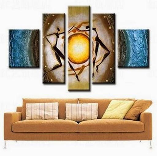 WholeHand-painted Hi-Q wall art home decor Modern abstr
