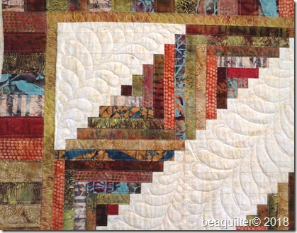 log cabin batik quilt long arm quilting