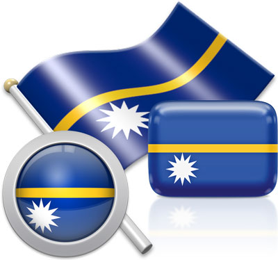 Nauruan flag icons pictures collection