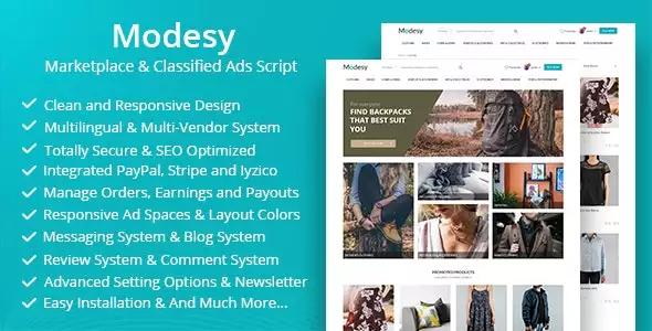 Modesy v1.5.1 – Marketplace & Classified Ads Script