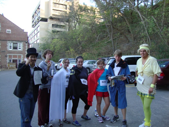 Runners dressed up to run in the Halloween 5K