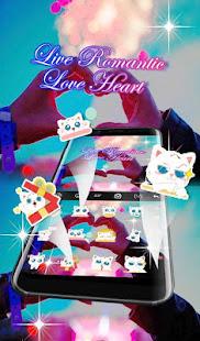 Live 3D Romantic Love Heart Keyboard Theme