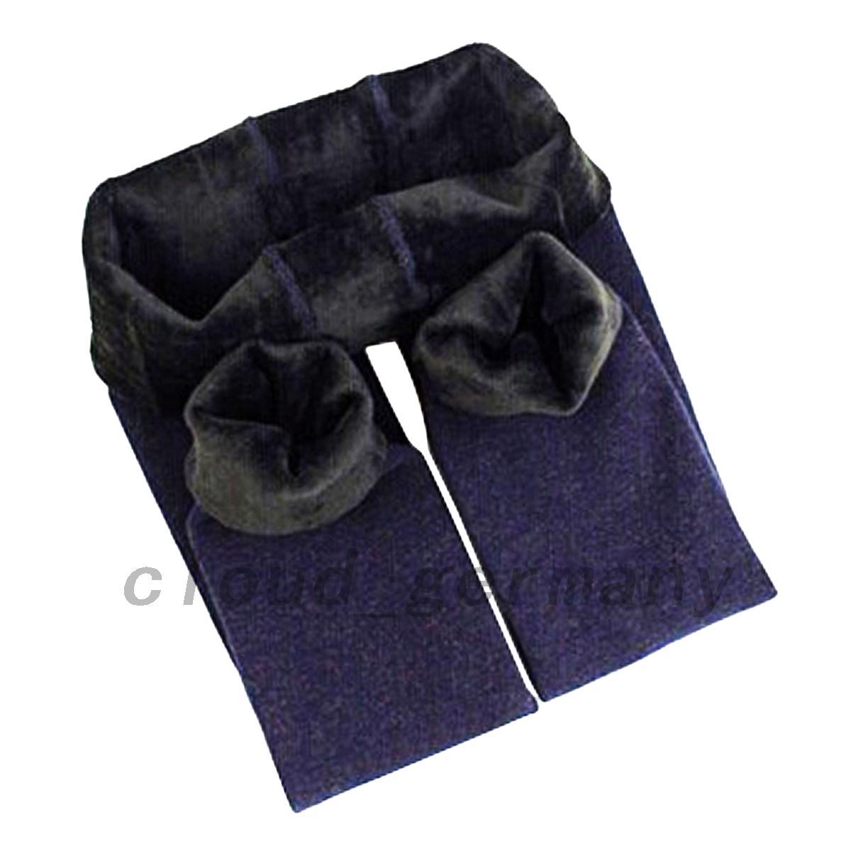 fille hiver leggings lastique chaud pais collant pour 4 12 ans pantalons fille ebay. Black Bedroom Furniture Sets. Home Design Ideas