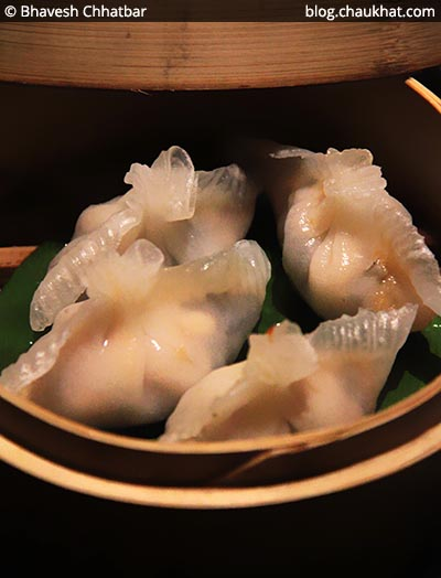 Vegetable Chui Chow Dumplings at Shizusan (The Asian Bistro) in Phoenix Market City at Viman Nagar area of Pune