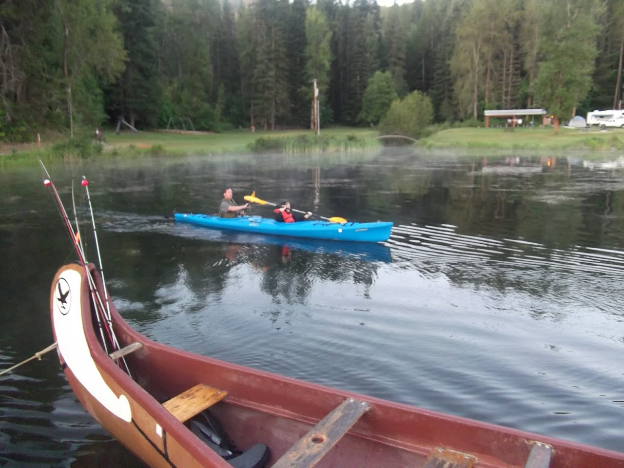 Jim and Jonathan in the buddy Kayak