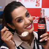 Actress Priyanka Karki with her fans at Coca-Cola Momotsav