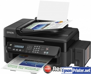 Reset Epson L556 ink pads are at the end of their service life