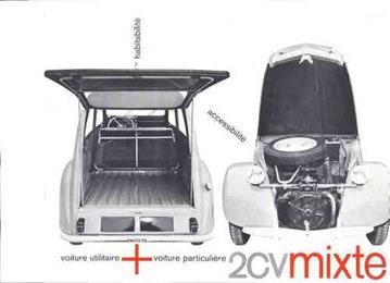 Citroën 1962 2 CV mixte