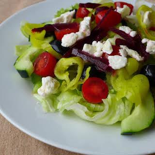 Greek Salad with Beets.