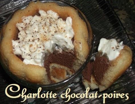 Charlotte aux poires et au chocolat