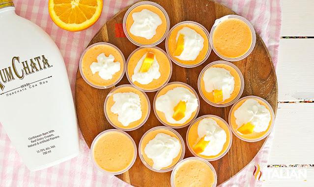 Creamsicle Jello Shots with Rum Chata