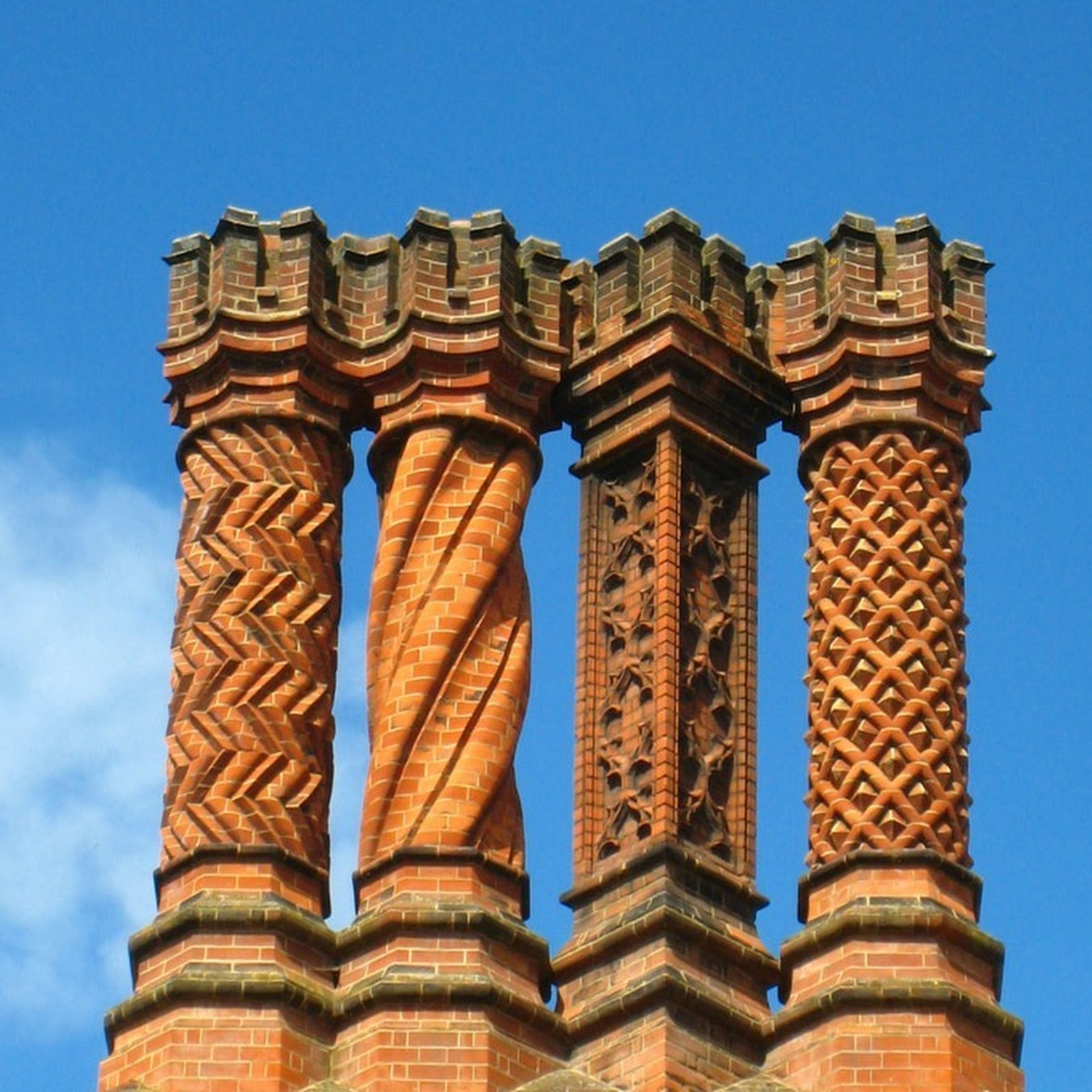 The Decorative Chimneys of Hampton Court Palace