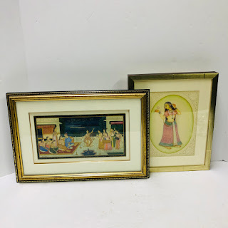 South East Asian Painting Pair