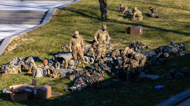 Democrats Face Backlash After Photos Emerge Of National Guardsmen In Poor Living Conditions