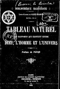 Cover of Louis Claude De Saint Martin's Book Tableau Naturel (Preface de Papus) (1900,in French)