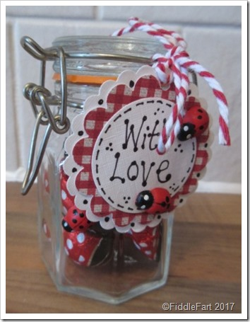 Valentines Favour Ladybirds in a Jar