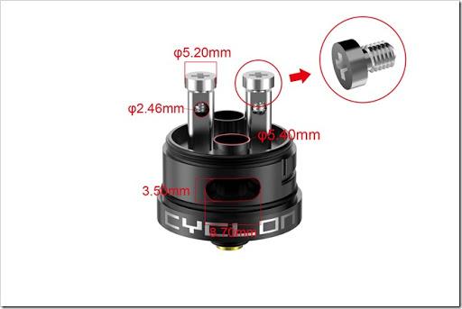 cyclon2 4 thumb%25255B2%25255D - 【海外】「6ml Fumytech Cyclon RDA 25mm」「4ml Ceravape Cerabis Ceramicサブオームタンク」「小型18650充電器」ほか【アトマ大量】