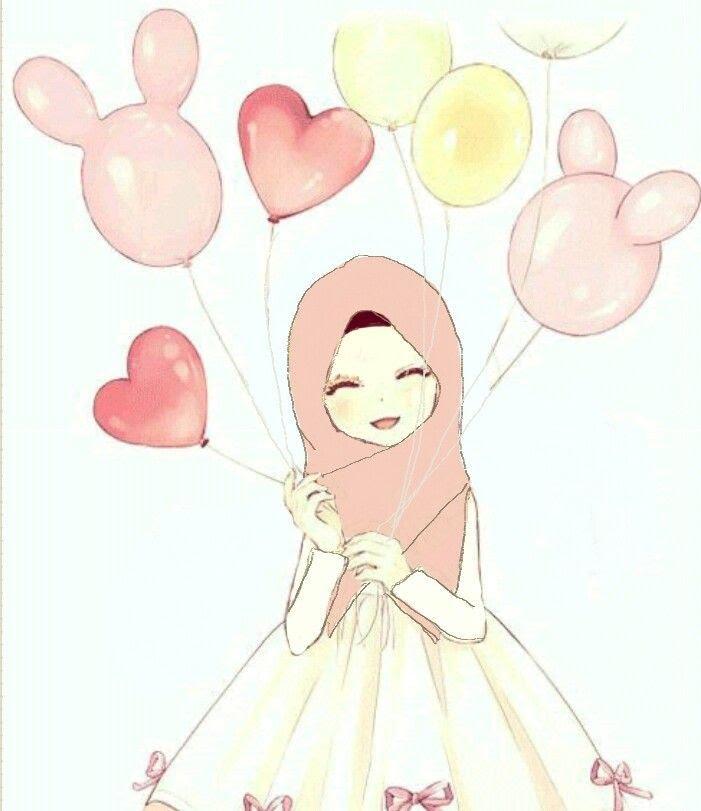 Gambar Anime Keren Muslimah Berhijab