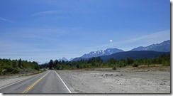Between Haines Junction headed for Haines