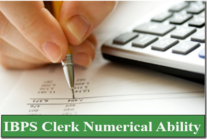 IBPS Clerk Numerical Ability test