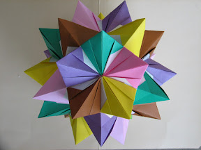 30-Pointed Star. Instructions: http://geocities.com/jordimastrullenque/sonobe/otraestrella.html