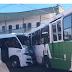 Acidente entre ônibus e rota do Distrito deixa quatro feridos em Manaus