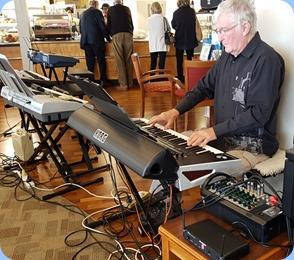 President, Gordon Sutherland, playing his Korg Pa4X.