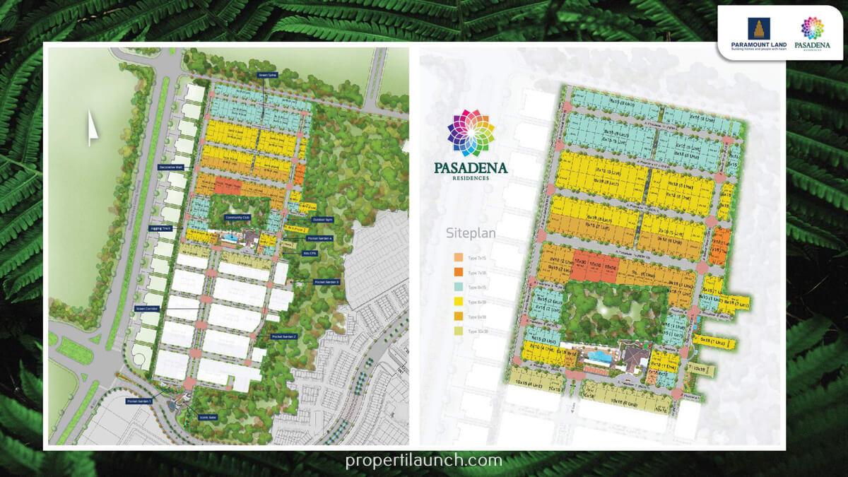 Siteplan Cluster Pasadena Residences Serpong